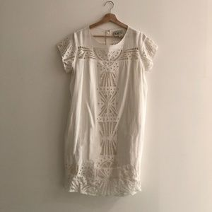 Sea Embroidered Babydoll Dress